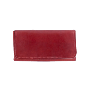 Women's Long Wallet in Red Leather - Cantoneri