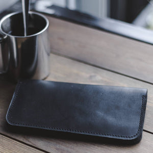 Men's Long Bifold Leather Wallet - Cantoneri