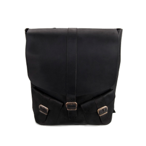 Large Designer Leather Backpack [Black] - Cantoneri