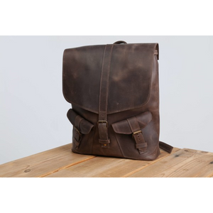 Large Designer Leather Backpack [Brown] - Cantoneri