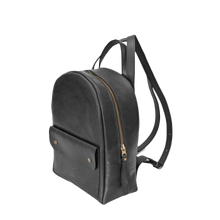 Stylish Mini Leather Backpack [Black] - Cantoneri