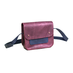 Small Cross Body Bag in Genuine Leather [Marsala] - Cantoneri