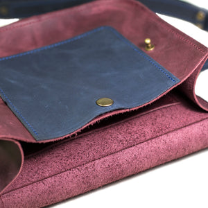 Small Cross Body Bag in Full Grain Leather [Marsala] - Cantoneri