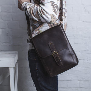 Men's Brown Flexi Slim Bag - Cantoneri