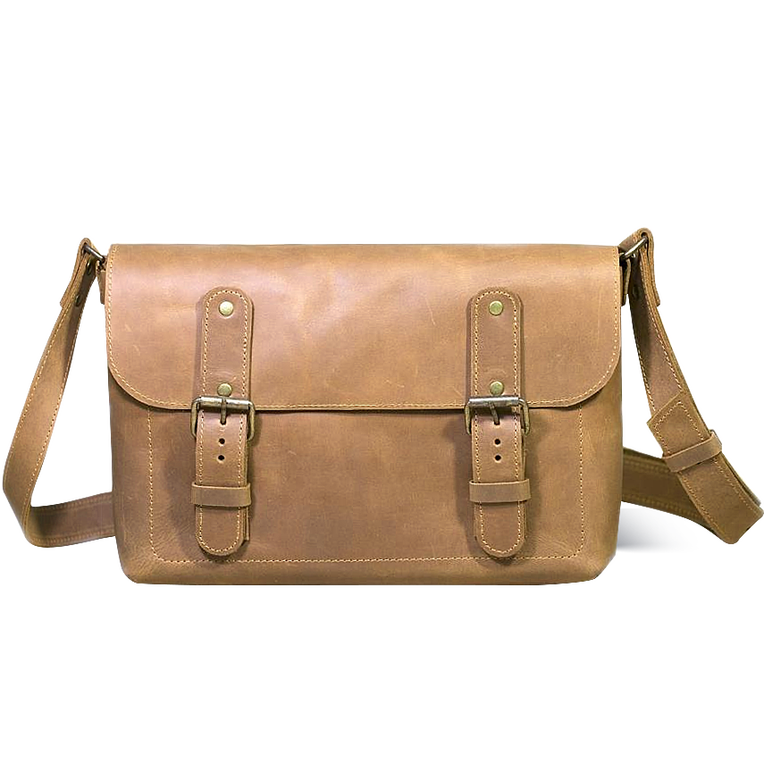 Men's Full Grain Leather Bag  [Beige] - Cantoneri
