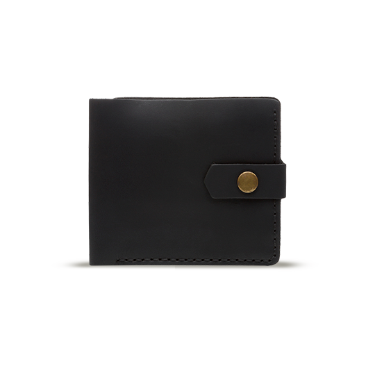 Bifold Leather Wallet [Black] - Cantoneri