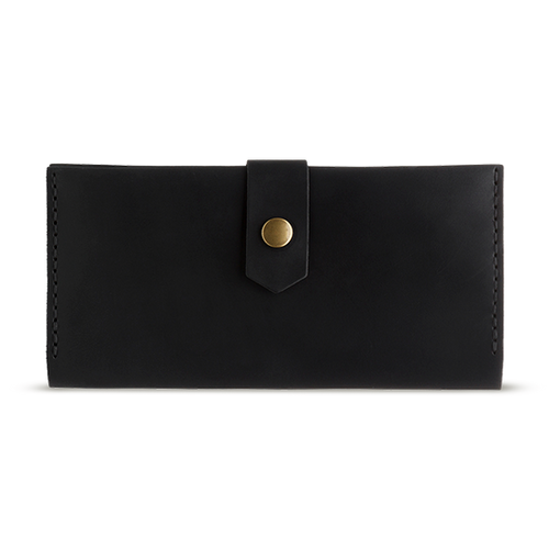 Women's Black Bifold Leather Wallet - Cantoneri