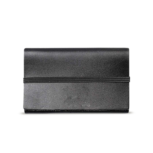 Black Leather Cardholder - Cantoneri