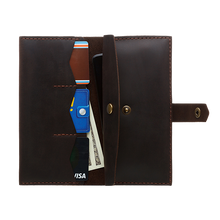 Women's Brown Bifold Leather Wallet [USA only] - Cantoneri