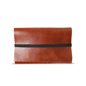 Cognac Leather Cardholder - Cantoneri