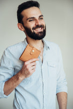 Bifold Leather Wallet [Ginger] - Cantoneri