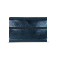 Dark Blue Leather Cardholder - Cantoneri