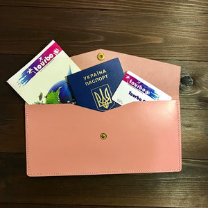 Pink Leather Travel Case - Cantoneri