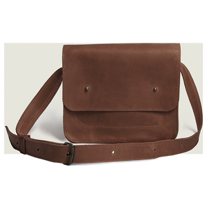 Small Cross Body Bag in Genuine Leather - Cognac - Cantoneri