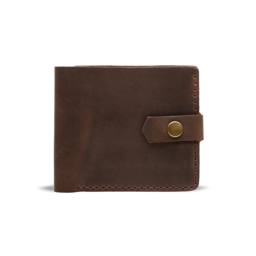 Dark Brown Bifold Leather Wallet [USA only] - Cantoneri