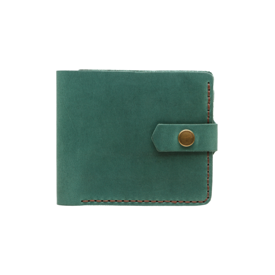 Bifold Leather Wallet [Dark Green] - Cantoneri