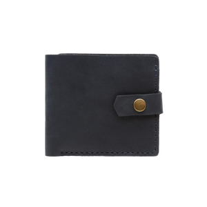 Dark Blue Bifold Leather Wallet [USA only] - Cantoneri