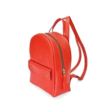Stylish Mini Leather Backpack [Red] - Cantoneri