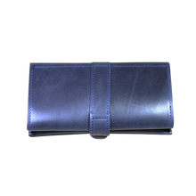 Women's Leather Long Wallet [Blue] - Cantoneri