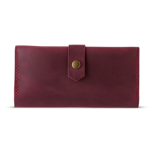 Women's Marsala Bifold Leather Wallet - Cantoneri