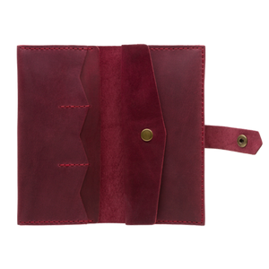 Women's Marsala Bifold Leather Wallet [USA only] - Cantoneri