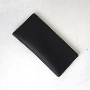 Men's Classic Black Long Leather Wallet - Cantoneri