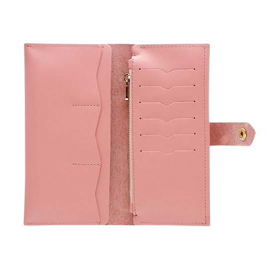 db1e6f806c55 Women's Pink Bifold Leather Wallet