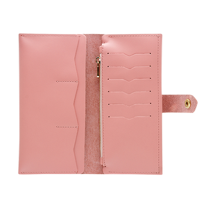 Women's Pink Bifold Leather Wallet - Cantoneri