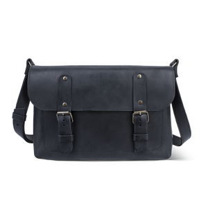 Full Grain Leather Cross Body Bag [Black] - Cantoneri