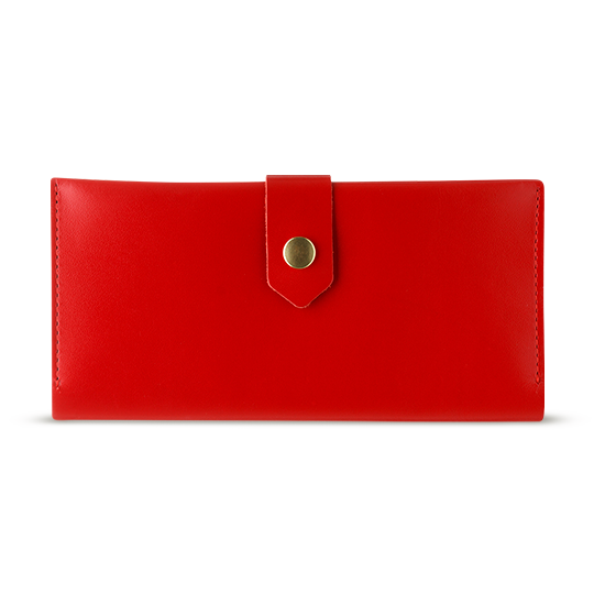 Women's Red Bifold Leather Wallet [USA only] - Cantoneri