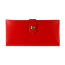 Women's Glossy Red Bifold Leather Wallet - Cantoneri