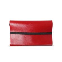 Red Leather Cardholder - Cantoneri