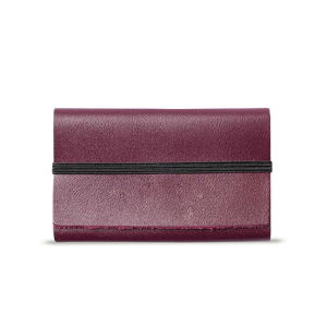 Wine Leather Cardholder - Cantoneri