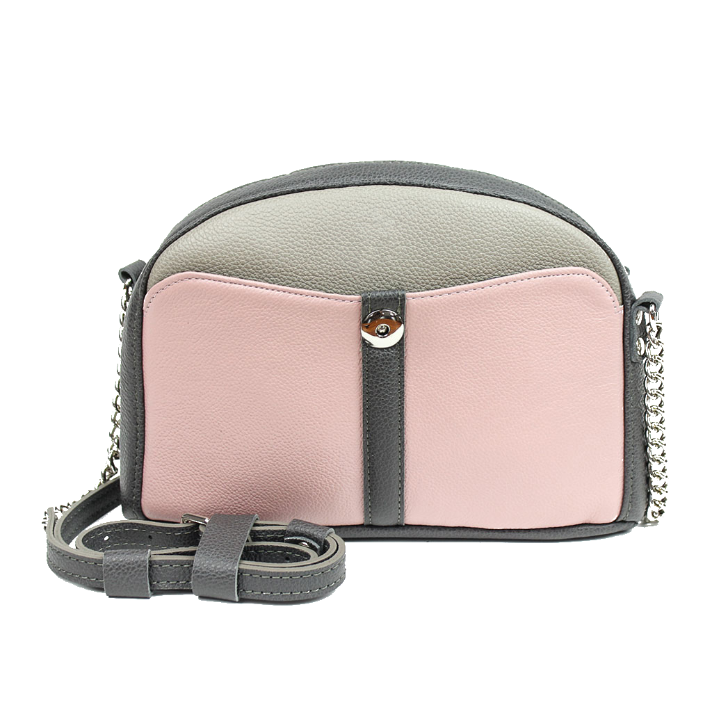 Pink Leather Cross Body Bag - Cantoneri