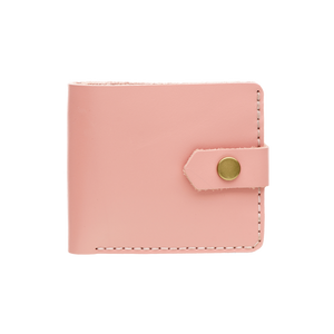 Bifold Leather Wallet [Glossy Pink]