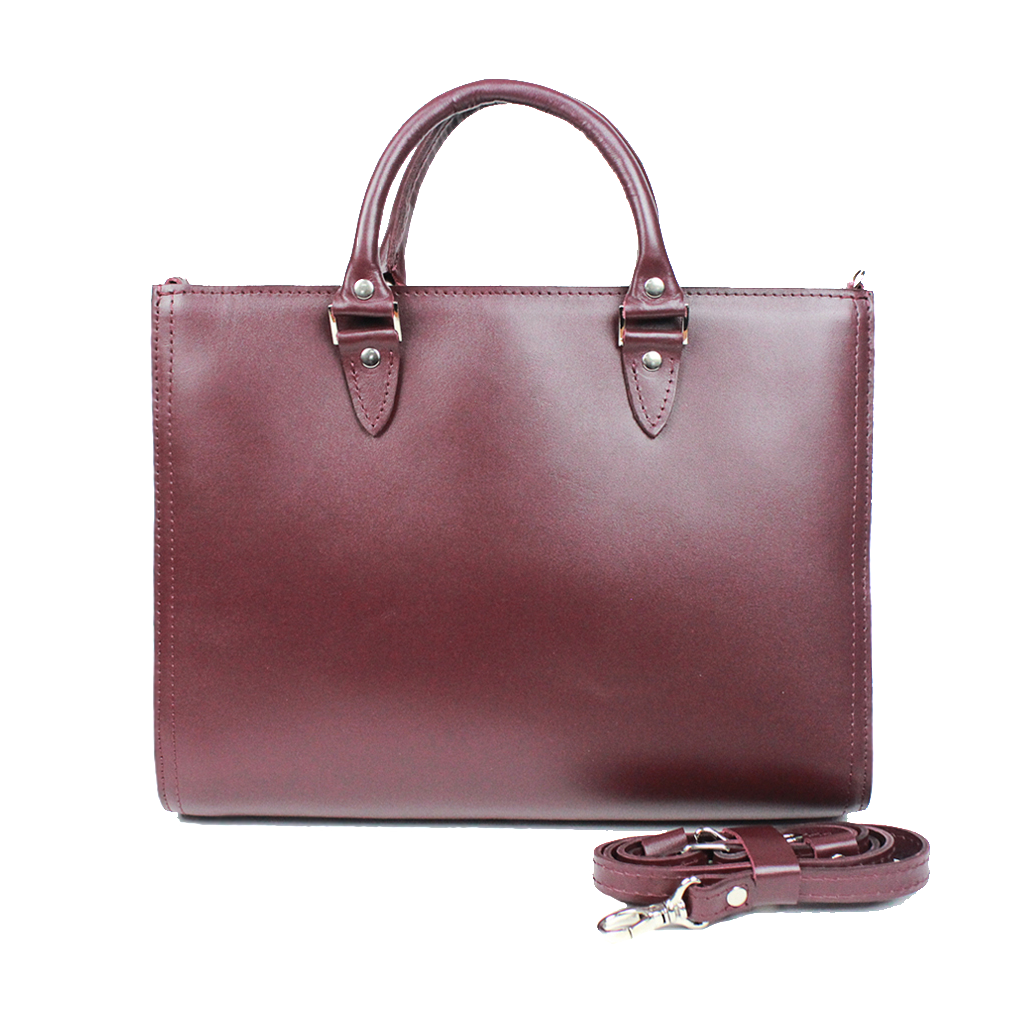Marsala Leather Top Handle Bag - Cantoneri