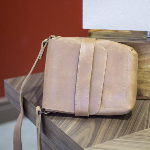 Leather Satchel [Beige] - Cantoneri