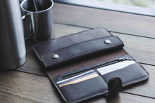 Leather Wallet (Black) | Black leather wallet | Leather wallet men | Gift for him | Handmade Wallet | Women's wallet - Cantoneri