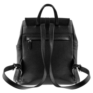 Handmade Black Leather Backpack with a Tassel - Cantoneri