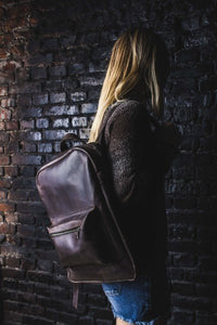Handmade Brown Leather Backpack - Cantoneri
