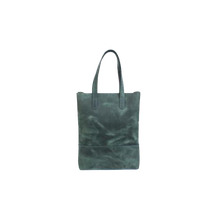 Green Leather Shopping Bag - Cantoneri