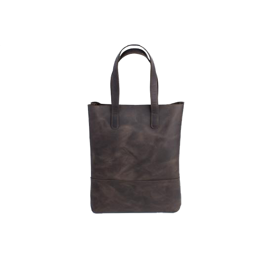 Brown Leather Shopping Bag - Cantoneri