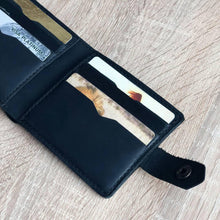 Men's Black Small Leather Billfold - Cantoneri