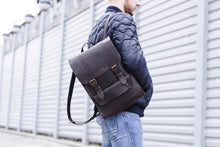 Back-to-School SALE Men's Handmade Leather Backpack - Dark Brown | Man Backpack | Men's Backpack| Black Backpack | Genuine Leather Backpack - Cantoneri