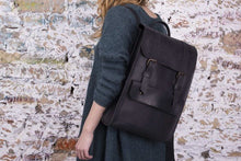 Back-to-School SALE Women's Handmade Leather Backpack - Gray | Women Backpack | Women's Backpack | Gray Backpack | Genuine Leather Backpack - Cantoneri