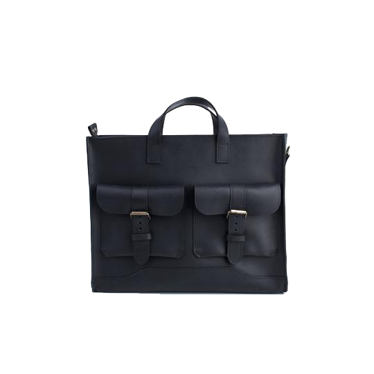 Handmade Leather Black Briefcase - Cantoneri