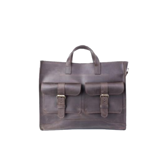 Handmade Leather Brown Briefcase - Cantoneri