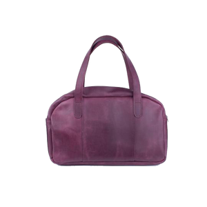 Women's Purple Leather Handbag - Cantoneri