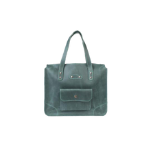 Women's Green Leather Tote Handbag - Cantoneri