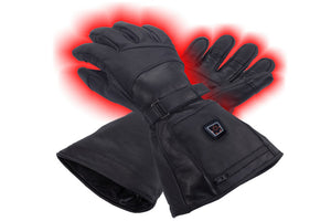 Heated Leather Ski Gloves
